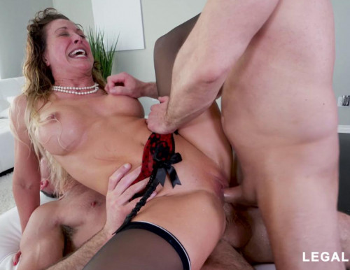 Horny Cherie DeVille Destroyed & DP'ed By Huge Cocks