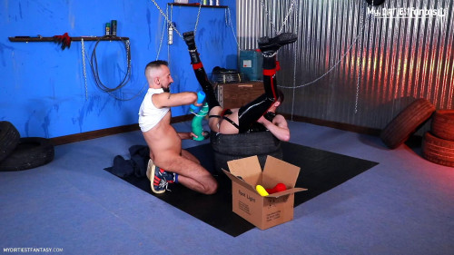 Gay BDSM Fisted Rubber Gimp  Part 1
