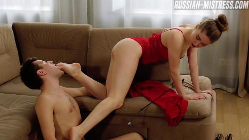 Femdom and Strapon Russian Mistress Ginger Jones