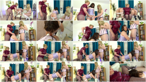 Femdom and Strapon Cock Hazing The New Girl