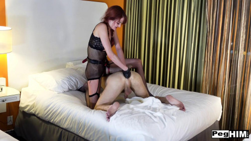 Femdom and Strapon Andi Rye and Michael Vegas get hardcore in a hotel