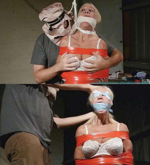 BDSM Latex Hard bondage, domination, strappado and torture for sexy blonde (Part 1)