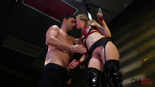 BDSM Sexy young blonde Lyra gets bound and fully dominated