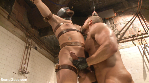 Gay BDSM Ill show you fucking leather - Two punks taken down in the gym