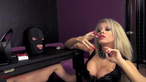 Femdom and Strapon Ashtray for a Goddess - Mistress Saida - HD 720p