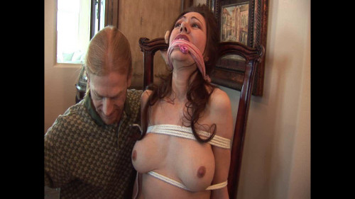 BDSM Naked slave on chair
