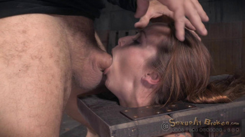 BDSM Bella Rossi is Bound and Brutal Shackled Rough Sex Deepthroat While Vibrated