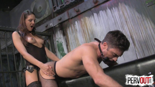 Femdom and Strapon Chastity Fuck Toy
