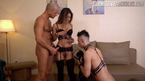 Femdom and Strapon Submissive Cuckolds Julia Love