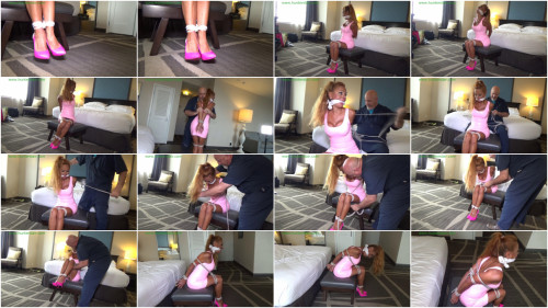 BDSM Strictly balltied & left to struggle in her hotel suite