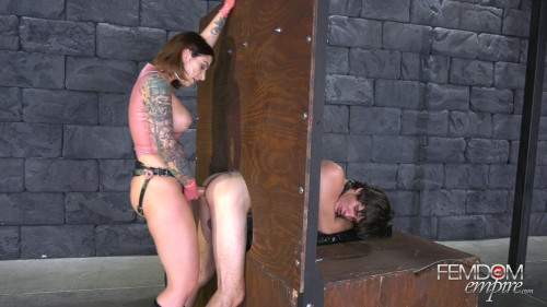 Femdom and Strapon Pegging Glory Hole