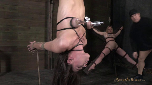 BDSM Tiny Casey Calvert is inverted and Fucked