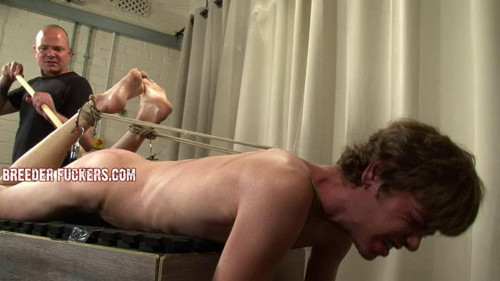 Gay BDSM Bound with rope for Aiden