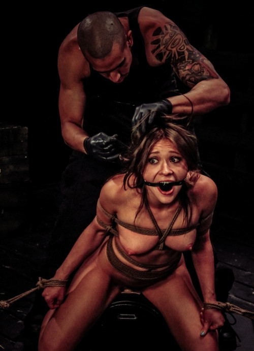 bdsm Sexy slave is Excited for Rope Bondage