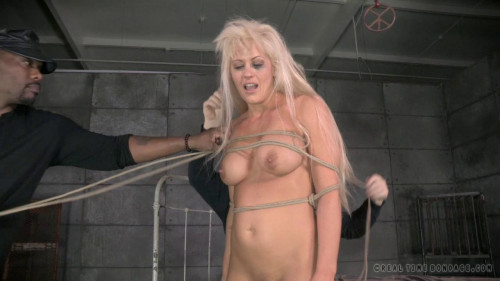 BDSM RTB - Holly Heart strictly restrained and Anally fucked by Bbc