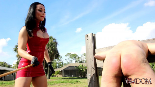 Femdom and Strapon Caning