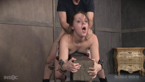 BDSM Nora Riley Live show Part 2: Our sexy Coed is getting dicked down like never before