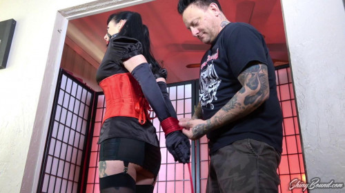 BDSM Bound in Red Rope