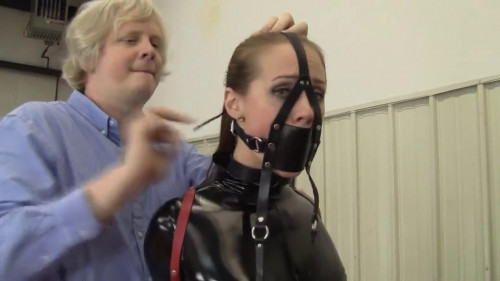 BDSM Latex Bondage, hogte and domination for hot girl in latex part 1