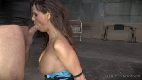 BDSM RTB - Sexy Hottie shackled down with epic rough deepthroat