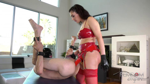 Femdom and Strapon Desperate for Dick