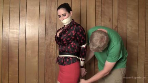 BDSM Julie: Tight bondage and gag for the Executive secretary