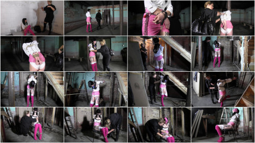 BDSM The Slender Beauty With Panties On Her Head and In Her Mouth - HD 720p