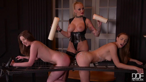BDSM Bondage, spanking and torture for two sexy naked slavegirls Full HD1080