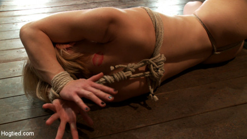 BDSM Manhandled, crotch roped & cums so hard, her eyes roll up into the back of her head! Brutal orgasms!