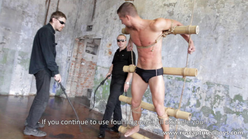 Gay BDSM RusCapturedBoys - A New Captive From Shibari Maestro - I