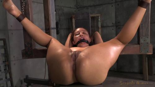 BDSM Little Spinner Tinslee Reagan Belted Down Ballgagged