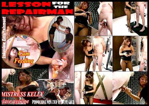Femdom and Strapon Lesson For The Repairman - LE