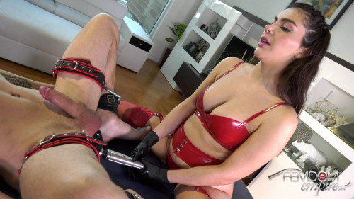 Femdom and Strapon Valentina Nappi - Milked Man Pussy