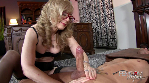 Femdom and Strapon Nina Hartley - Plaything Cock Jerk