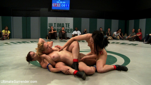 Femdom and Strapon Battle of the champions! tag team action: - last seasons top 4 battle in brutal tag team action!
