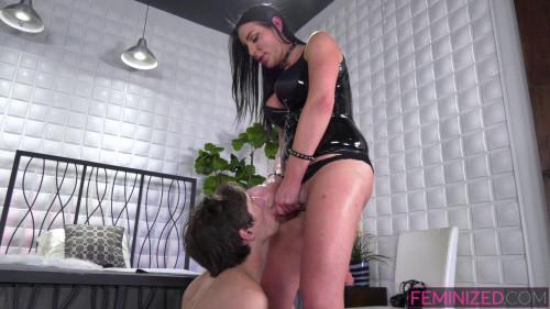 Femdom and Strapon Mistress sissy training