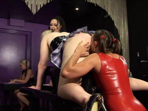 Femdom and Strapon Latex Rubber - Shares Carter - Domination HD