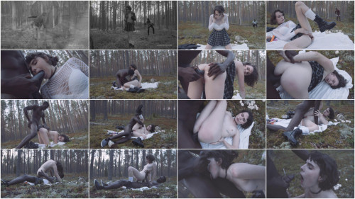 Interracial Darcy Dark in search of mushrooms in the forest got her first anal BBC 1080p