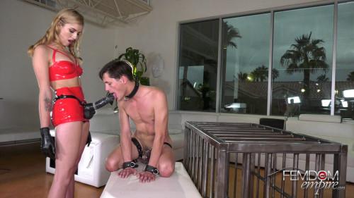 Femdom and Strapon Big Dick Slut
