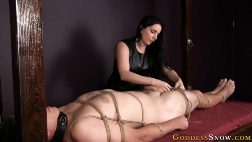 Femdom and Strapon Electro Slave Full Version