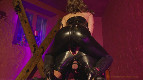 Femdom and Strapon Slave