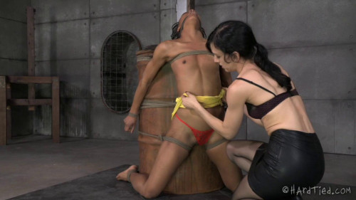 BDSM HardTied  Nikki Darling   My Time In The Barrel
