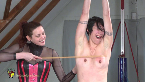 BDSM Candy gets Caned