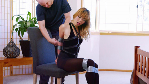 BDSM Bdsm HD Porn Videos Velvet Thong Bodysuit and Panic Hood