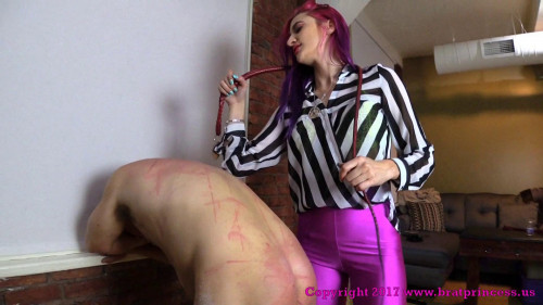 Femdom and Strapon Breaks Open Piggy Bank with Whip and Rubs Salt in Open Wounds