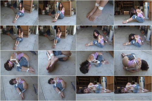 bdsm Ashley Renee Tied in the Garage 2013