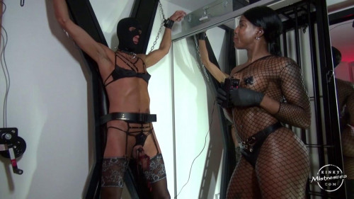 Femdom and Strapon Electro Punishment At The Cross