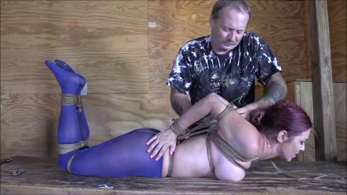BDSM Bondage, domination, hogtie and torture for very horny girl Full HD 1080p