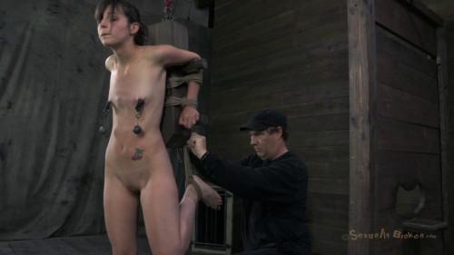 BDSM Cute girl next door, finds out what bondage & deepthroat fucking