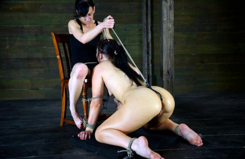 BDSM Stuck to the deep throat chair, Impaled, vibrated, and ass fucked! Completly Air Tigh - HD 720p